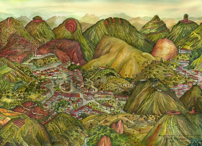 2011-Paisagem com montanhas cortadas-aquarela02
