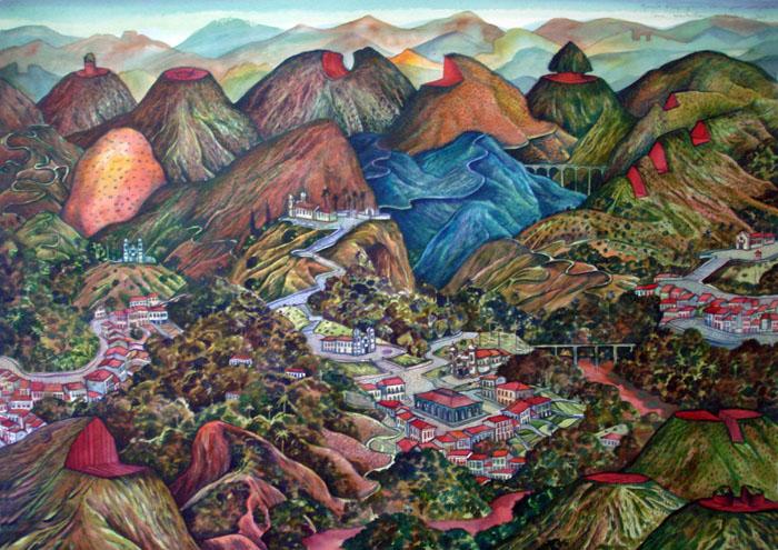 2011-Paisagem com montanhas cortadas-aquarela03