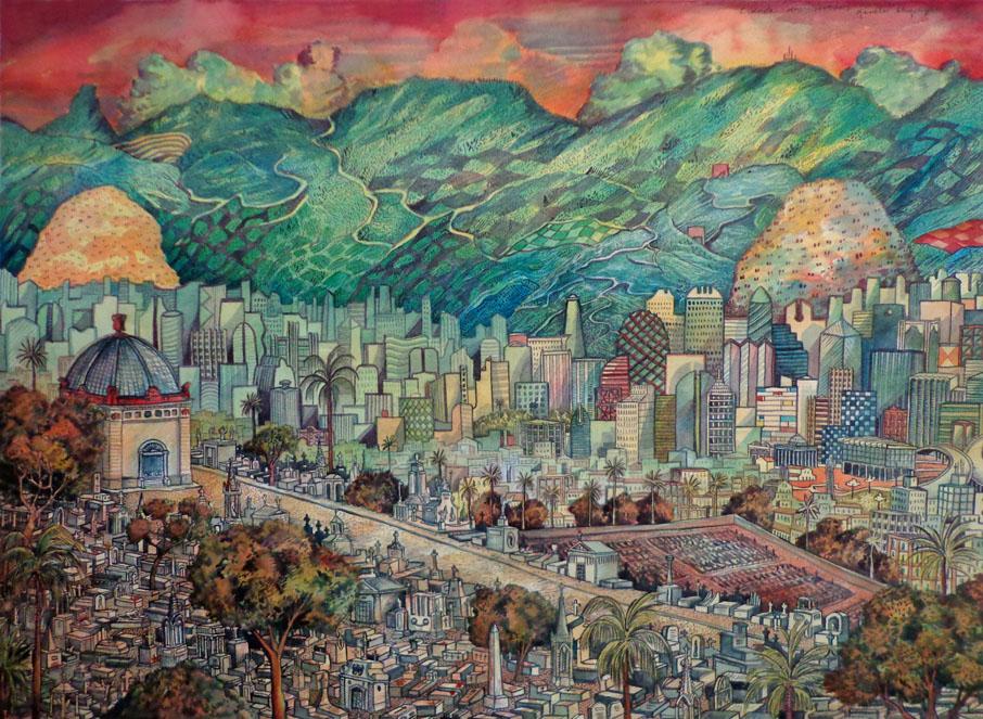 2013-cidade dos mortos-aquarela-55x75cm1