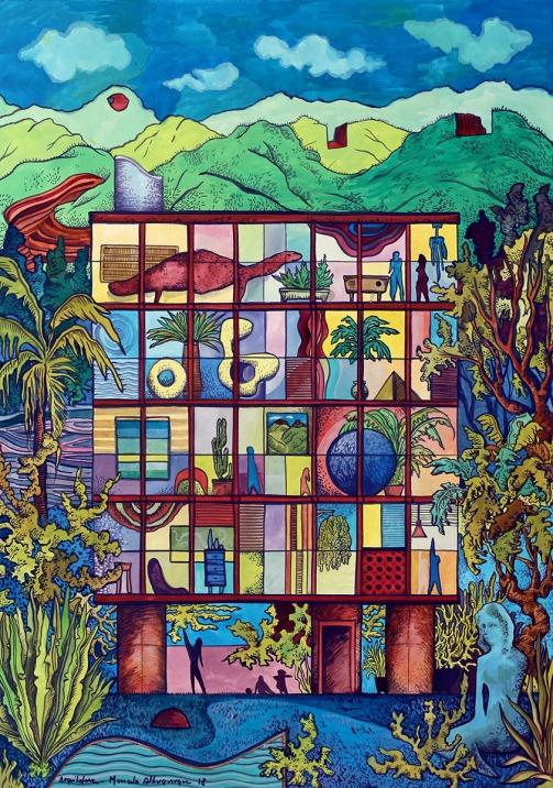 2018 - Arquitetura - guache 66 x 47 cm